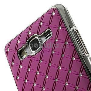 Fialový drahokamový kryt pre Samsung Grand Prime - 3