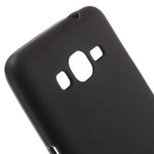 Čierny matný gélový obal pre Samsung Galaxy Grand Prime - 3