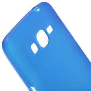Modrý matný gélový obal pre Samsung Galaxy Grand Prime - 3