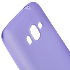 Fialový matný gélový obal pre Samsung Galaxy Grand Prime - 3