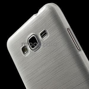 Broušený gélový obal pre Samsung Galaxy Grand Prime -  biely - 3