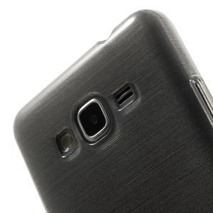 Broušený gélový obal pre Samsung Galaxy Grand Prime - šedý - 3