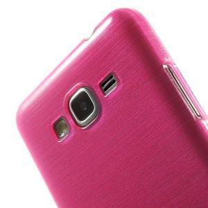 Broušený gélový obal pre Samsung Galaxy Grand Prime - rose - 3