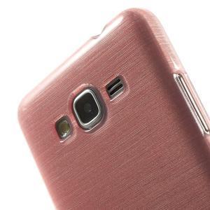 Brúsený gélový obal pre Samsung Galaxy Grand Prime - ružový - 3