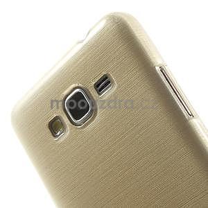 Broušený gélový obal pre Samsung Galaxy Grand Prime - zlatý - 3