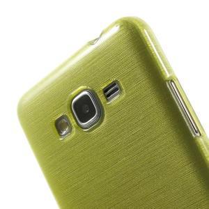 Brúsený gélový obal pre Samsung Galaxy Grand Prime - zelený - 3