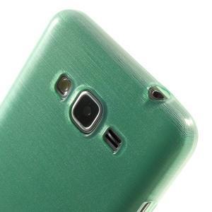 Brúsený gélový obal pre Samsung Galaxy Grand Prime - cyan - 3