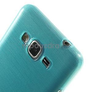 Brúsený gélový obal pre Samsung Galaxy Grand Prime - tyrkysový - 3