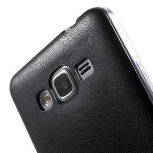Ultratenký kožený kryt na Samsung Grand Prime - čierny - 3