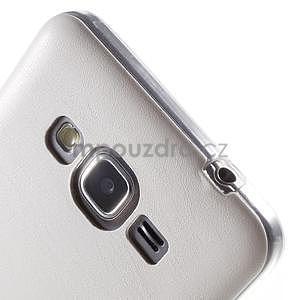 Ultratenký kožený kryt na Samsung Grand Prime - biely - 3