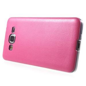 Ultratenký kožený kryt na Samsung Grand Prime - rose - 3