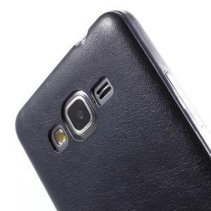 Ultratenký kožený kryt na Samsung Grand Prime - tmavě modrý - 3