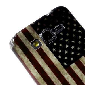 Gélový obal Samsung Galaxy Grand Prime G530H - US vlajka - 3