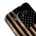 Gélový obal Samsung Galaxy Grand Prime G530H - US vlajka - 3/4