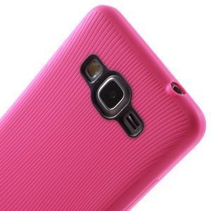 Tenký pogumovaný obal pre Samsung Galaxy Grand Prime - rose - 3