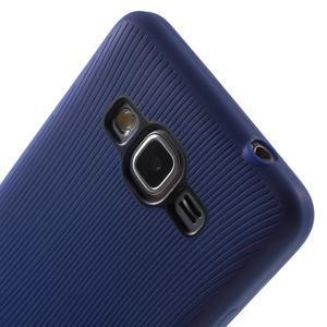 Tenký pogumovaný obal na Samsung Galaxy Grand Prime - tmavě modrý - 3