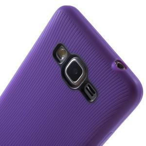 Tenký pogumovaný obal pre Samsung Galaxy Grand Prime - fialový - 3