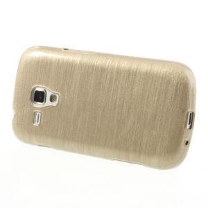 Broušený gélový kryt na Samsung Galaxy S Duos - zlatý - 3