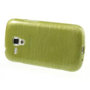 Broušený gélový kryt na Samsung Galaxy S Duos - zeleno žltý - 3