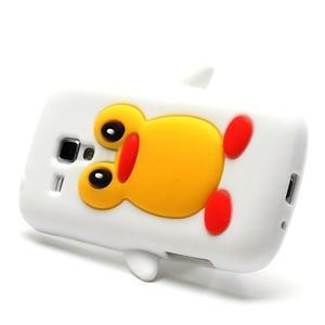 Silikonový obal tučňák na Samsung Galaxy S Duos - biely - 3