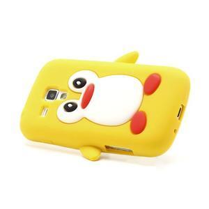 Silikonový obal tučniak pre Samsung Galaxy S Duos - žltý - 3