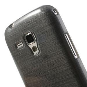 Broušený gélový kryt na Samsung Galaxy S Duos - šedý - 3