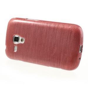 Broušený gélový kryt na Samsung Galaxy S Duos - růžový - 3