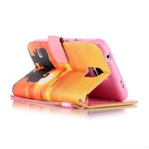 Knížkové PU kožené puzdro pre Samsung Galaxy S5 - západ slnka - 3