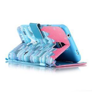 Knížkové PU kožené puzdro pre Samsung Galaxy S5 - snežný muž - 3