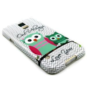Luxury gélový obal pre mobil Samsung Galaxy S5 - sovičky - 3