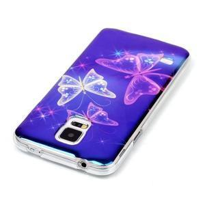 Blu-ray gélový obal s odlesky pre Samsung Galaxy S5 - čarovné motýle - 3