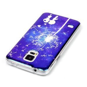 Blu-ray gélový obal s odlesky pre Samsung Galaxy S5 - láska - 3