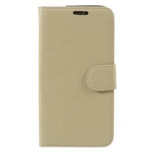Clothy Pu kožené puzdro pre Samsung Galaxy S5 - champagne - 3