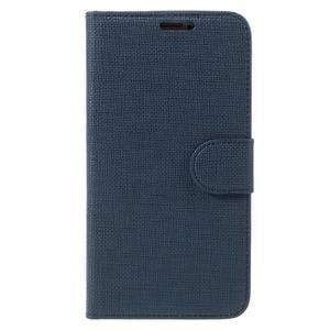Clothy Pu kožené pouzdro na Samsung Galaxy S5 - tmavěmodré - 3