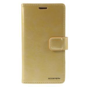 Bluemoon PU kožené pouzdro na Samsung Galaxy S5 - zlaté - 3
