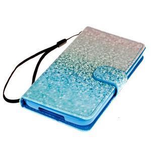 Knížkové PU kožené pouzdro na Samsung Galaxy S5 - glitter - 3
