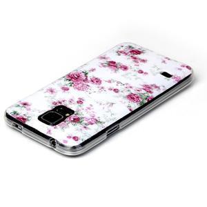 Rich gelový obal na Samsung Galaxy S5 - květiny - 3