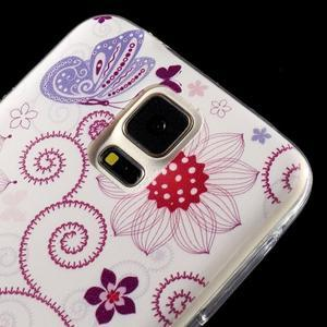 Ultratenký slim gelový obal na Samsung Galaxy S5 - motýlek - 3