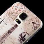 Ultratenký slim gelový obal na Samsung Galaxy S5 - Eiffelova věž - 3/4