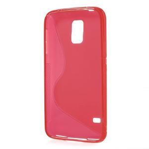 S-line gélový obal pre mobil Samsung Galaxy S5 - červený - 3
