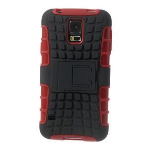 Outdoor odolný kryt na mobil Samsung Galaxy S5 - červený - 3
