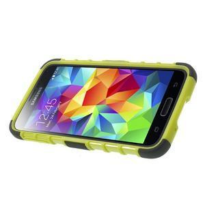 Outdoor odolný kryt pre mobil Samsung Galaxy S5 - zelený - 3