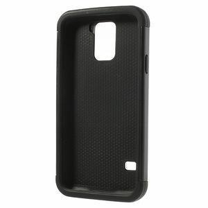 Odolný obal 2v1 na mobil Samsung Galaxy S5 - černý - 3