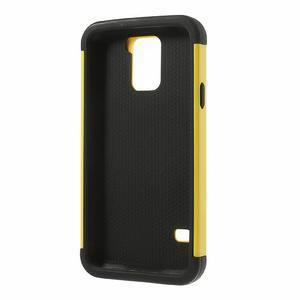Odolný obal 2v1 na mobil Samsung Galaxy S5 - žlutý - 3