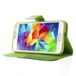 Colory PU kožené pouzdro na mobil Samsung Galaxy S5 - variant III - 3