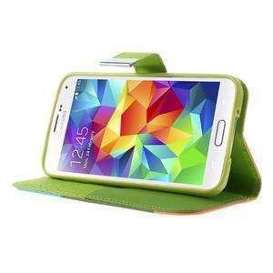 Colory PU kožené puzdro pre mobil Samsung Galaxy S5 - variant IV - 3