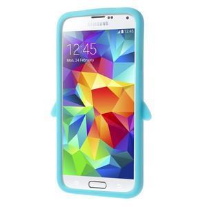 Penguin silikonový obal na Samsung Galaxy S5 - světlemodrý - 3