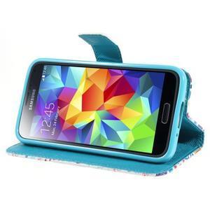 Emotive PU kožené puzdro pre Samsung Galaxy S5 mini - Londýn - 3