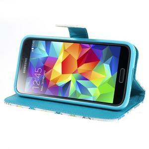Emotive PU kožené puzdro pre Samsung Galaxy S5 mini - motýle - 3