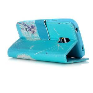 Stand peňaženkové puzdro pre Samsung Galaxy S5 mini - odkvetlá púpava - 3